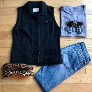 Black Jean Vest